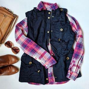 Jackets & Blazers - Navy blue utility vest